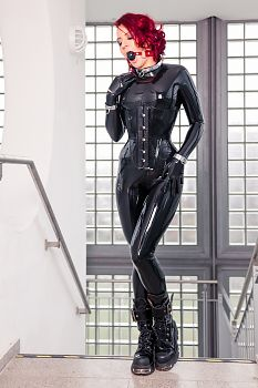 комбинезон Черный костюм латекса