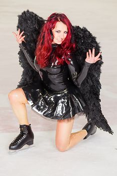 Transparent Latex Black Swan on Ice