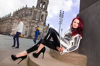 Latex Catsuit Dresden Cathedral