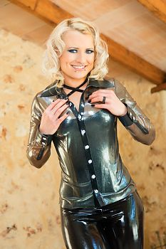 Latex Blouse Invited Girl