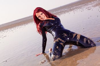 Latex Catsuit Kugelbake Cuxhaven