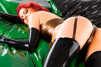 Sexy Ass Latex and Oil Overload