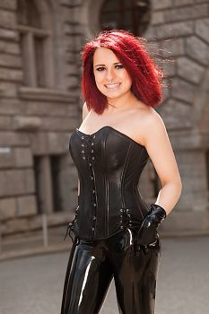 Leather Clothing Leather Corset and Latex