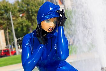 Latex Hood Rubber Doll in Latex