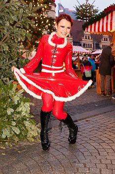 Mini Skirt Sexy Christmas Girl
