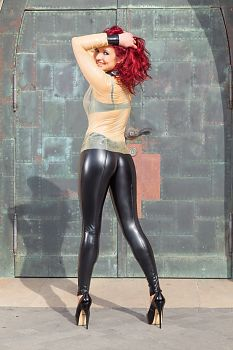 Latex Leggings Enge schwarze Hose