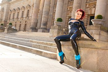 Latex in Public Tight Latex Pants