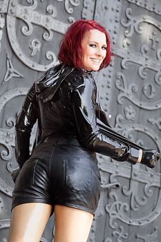 Latexkleidung Transparente Latex Leggings und Hotpants