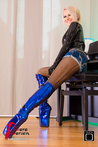 Blaue Ballettstiefel