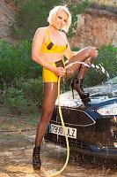 Sexy Autowäsche