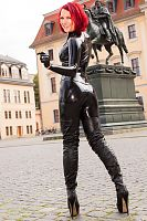 Sexy Leather Coat in Weimar