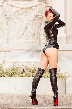 Crotch High Leather Over Knee Boots