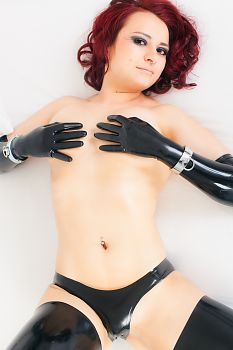 Black Latex Lingerie