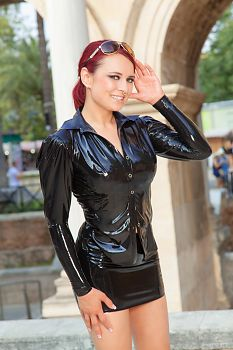 Business Girl in Latex