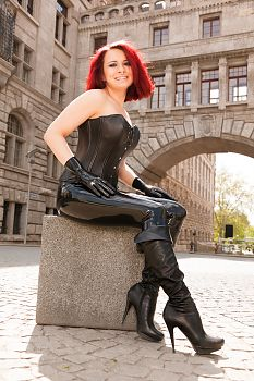 Leather Corset and Latex