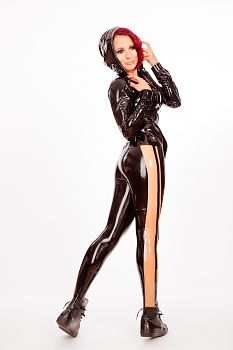 Black and White Latex Fashion